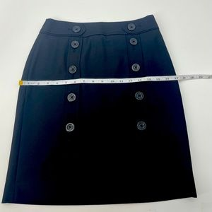 Ann Taylor Pencil skirt Black with buttons